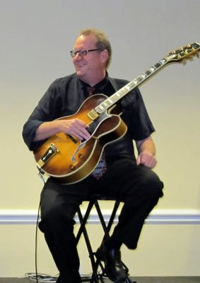 Brian playing Jazz guitar